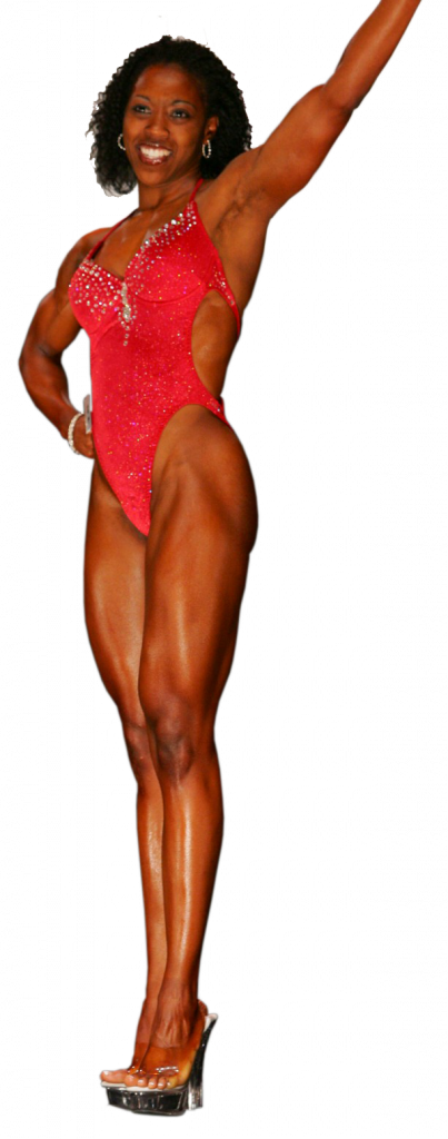 Health coach and body-builder Candice McField